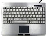 Solidtek ACK-540ALU Portable Mini Keyboard Aluminum USB w/ Touch Pad (Solidtek: ACK-540ALU PS/2)