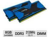Kingston HyperX Predator Series KHX21C11T2K2/8X 8GB Desktop Memory Module Kit - DDR3, 2x4GB, 2133MHz, CL11, DIMM, 1.6V, Unbuffered (Kingston: KHX21C11T2K2/8X)