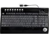SEAL SHIELD S103 Black Wired SILVER SURF Multimedia Keyboard - Dishwasher Safe & Antimicrobial (Seal Shield: S103)