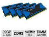 Kingston HyperX Predator Series KHX16C9T2K4/32X 32GB Desktop Memory Module Kit - DDR3, 4x8GB, 1600MHz, CL9, DIMM, 1.5V, Unbuffered, XMP Ready (Kingston: KHX16C9T2K4/32X)