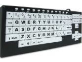 chestercreektech VisionBoard2 VB2 Black/White Wired Large Key Keyboard (Chester Creek Technologies: VB2)