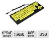 chestercreektech VisionBoard2 Yellow VB2YELLOW Black/Yellow Wired Large-key keyboard w/ black case (Chester Creek Technologies: VB2YELLOW)