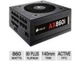 Corsair AX860I 860W ATX 12V V2.31 80 Plus Platinum Modular Power Supply Active PFC 120mm Fan (Corsair: CP-9020037-NA)