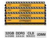 Crucial Ballistix Tactical BLT4K8G3D1608ET3LX0 32GB Desktop Memory Module Kit - DDR3, 4 x 8GB,  CL8, UDIMM, 240 Pin, 1.35V (Crucial: BLT4K8G3D1608ET3LX0)