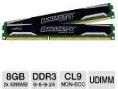 Crucial Ballistix Sport VLP BLS2K4G3D1609ES2LX0 8GB Desktop Memory Module Kit - DDR3, 2 x 4GB,  CL9, UDIMM, 240 Pin, 1.35V (Crucial: BLS2K4G3D1609ES2LX0)
