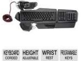 MadCatz MCB43108N002/02/1 S.T.R.I.K.E. 5 PC Gaming Keyboard - Height-Adjustable Palm Rest, 2 Wrist Rests, Programmable Buttons (MAD Catz: MCB43108N002/02/1)