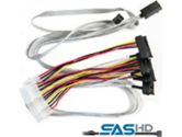 Adaptec ACK-I-HDmSAS-4SAS-SB SFF8643 to SFF-8482 mSAS HD to 4xSATA sideband 0.8M Cable Series 7 (Adaptec: 2280100-R)