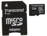 Transcend UHS-I 32GB Micro SDHC Flash Card with Adapter (Transcend: TS32GUSDU1)
