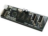 NZXT IU01 Internal USB Expansion Module - Converts 1 USB Header to 3x USB Headers & 2 USB Ports (NZXT: ACC-NT-IU01-R)