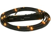NZXT Sleeved LED Case Lighting Kit Length Lights Includes Brightness Controller - 2M - Orange (NZXT: CABLE-NT-CB-LED2-O)