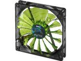 AeroCool Shark 120mm Green 1500RPM 82.6CMF 12.6DBA Case Fan (AeroCool: Shark 120mm Green)