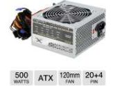 ENYLE 500W ATX Power Supply - 120mm Fan, 50/60 Hz, 20A@3.3V, 22A@5V, 12V@28A, 0.3A@-12V, 2.5A@5VSB, 100,00 Hours (Coast to Coast Fulfillment: EN-500F12)