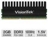 VisionTek Black Label 2GB Desktop Memory Module - DDR3, PC3-12800, 1600MHz, CL9, 1.65V (VisionTek: 900392)