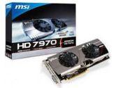 MSI Radeon HD 7970 Twin Frozr III OC 1GHZ/1.05GHZ 3GB 5.5GHZ GDDR5 DVI HDMI 2x DP PCI-E Video Card (MSI/MicroStar: R7970 TF 3GD5/OC BE)