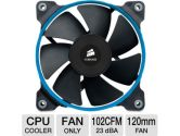 Corsair Air Series SP120 PWM Quiet Ed. High Pressure 1450RPM 37.85CFM 23DBA Cooling Fan Dual Pack (Corsair: CO-9050012-WW)