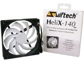 Swiftech HELIX-140-BW 140mm Fan Z-AXIS Bearing 1500 RPM 74.5CFM 33DBA 60000 Hours Mtbf (Swiftech: HELIX-140-BW)