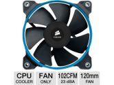 Corsair Air Series SP120 PWM Quiet Edition High Pressure 1450RPM 37.85CFM 23DBA Airflow Cooling Fan (Corsair: CO-9050011-WW)