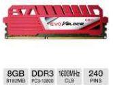 GEIL EVO Veloce Series 8GB Desktop Memory Module - DDR3, PC3-12800, 1600 MHz, SDRAM, CL9, 1.5V, 240 Pin (GeIL: GEV38GB1600C9SC)