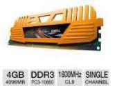 GEIL Enhance Crosa Series 4GB Desktop Memory Module -  DDR3, PC3-12800, 1600MHz, C9, 1.5V (GeIL: GEC34GB1600C9SC)