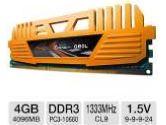 GEIL Enhance Crosa Series 4GB Desktop Memory Module - DDR3, PC3-10660, 1333 MHz, C9, Single Channel, 1.5V (GeIL: GEC34GB1333C9SC)