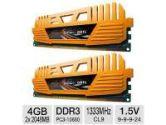 GEIL Enhance Crosa Series 8GB Desktop Memory Module Kit - DDR3, 2 x 4GB, PC3-10660, 1333 MHz, C9, Dual Channel, 1.5V (GeIL: GEC34GB1600C9DC)
