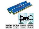 Kingston HyperX Blu 16GB Desktop Memory Kit and Kingston HyperX Coupon- Devil May Cry Download Bundle (Kingston: KHX1600C10D3B1K2/16G Bundle)