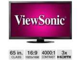 ViewSonic 65 Class Full HD LED Professional Display - 1920 x 1080, 16:9, 4000:1 Native, 8ms, HDMI, DVI, VGA (ViewSonic: CDE6501LED)
