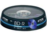 TDK BD-R 4X 50GB Blu-Ray Single disc With Jewel Case (TDK: BRV50HCPWB1 (Single))