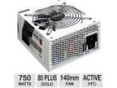 NZXT Hale90 Series 750W Power Supply - 80+ Gold, 140mm Fan, Single +12V, Modular Cable Design, 100% Japanese Capacitors, White (NZXT: OPS-NT-HALE90-750-S)