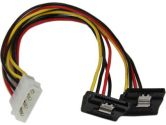 StarTech.com 12IN LP4 to 2x Right Angle Latching SATA Power Y Cable Splitter - Molex to Dual SATA (StarTech.com: PYO2LP4LSATR)
