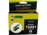 For Dummies Epson T0981 Black Inkjet Cartridge Remanufactured (For Dummies: DE-T0981)