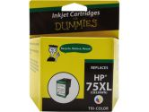 For Dummies HP 75XL Color Inkjet Cartridge CB338WN Remanufactured (For Dummies: DH-75XL)