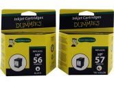 For Dummies HP 56/57 Black & Tri-color Combo Inkjet Cartridge C9321FN Remanufactured (For Dummies: DH-56/57(2PK))