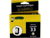 For Dummies Lexmark 33 Color Print Cartridge 18C0033 Remanufactured (For Dummies: DL-18C0032(33))