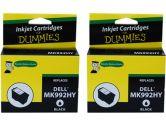 For Dummies Dell MK992HY Black Inkjet Cartridge 2 Pack 926 V305W V305 Series 9 Remanufactured (For Dummies: DD-MK992HY(2PK))