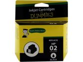 For Dummies HP 02 Black Inkjet Cartridge C8721WN Remanufactured (For Dummies: DH-02BKSY)