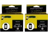 For Dummies Canon CL-211 Tri-Color Inkjet Cartridge 2 Pack 2976B001 Remanufactured (For Dummies: DC-CL211(2PK))