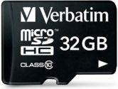 Verbatim 32GB microSDHC Class 10 W/ADAPTER (VERBATIM: 44083)