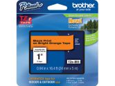 Brother TZE-B51 P-TOUCH Black On Fluorescent Orange Laminated Tapes (Brother Printer Supplies: TZEB51)