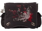 Kalencom Sam's Messenger Bag in Black Dragon Screened (Kalencom: 088161238012)