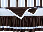 Go Mama Go Designs Toddler Blanket Minky, Chocolate/Blue (Go Mama Go Designs: 718122807970)