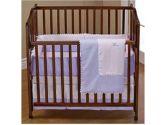 Light Blue Ric Rac Portable Crib Bedding (Baby Doll: 009243025993)
