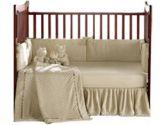 Heavenly Soft Crib Bedding - color: Ecru (Baby Doll: 009243030034)
