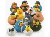 One Dozen (12) Rubber Duckie Ducky Duck Christmas Nativity Scene (Rubber Ducks: 887600907713)