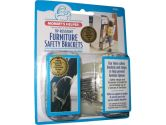 Mommy's Helper Tip-Resistant Furniture Safety Brackets, Ivory, 8-Pack (Mommy's Helper: 036768022633)