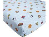 Lambs & Ivy Super Sports Crib Sheet (Lambs & Ivy: 084122940062)