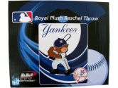 MLB Baby Throw Blanket - NY Yankees Royal Plush Raschel Throw (MLB: 087918869998)