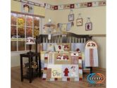 Boutique Brand New GEENNY Baby Boy FireTruck 13PCS CRIB BEDDING SET (GEENNY: 813026010034)