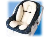 Summer Infant, Inc. Kiddopotamus Snuzzler Complete Head and Body Support, Ivory Fleece & Navy Trim (Summer Infant: 750849201181)