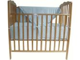 American Baby Company 1510SS-BL Heavenly Soft Minky Dot Porta-Crib Set, 3-Piece (Blue) (American Baby Company: 656173510602)